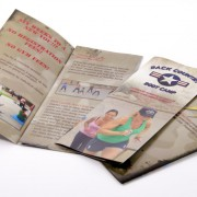 Brochures for an exercise class printed in full color