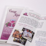 Event brochures printed in full color