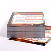 Stack of glossy postcards